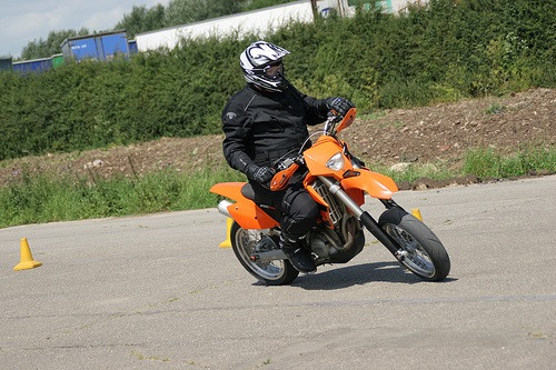 Picture of Alistair Laing riding a KTM Super Motard Motorcycle