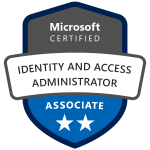 Badge describing Microsoft Certified Identity and Access Administrator
